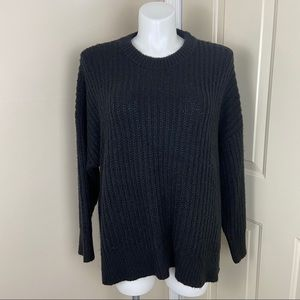 NWT AERIE OVERSIZED BLACK DESERT SWEATER